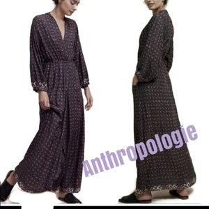 NAT Natalie Martin Nico long maxi wrap dress